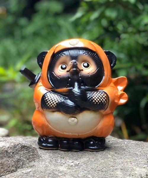 [BEAMS MEN] BEAMS JAPAN / 別注 信楽焼 オレンジ たぬき 忍者