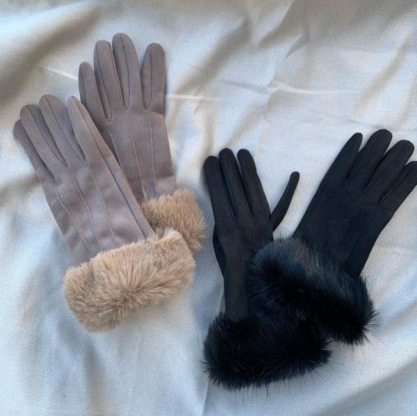 ファー付き手袋