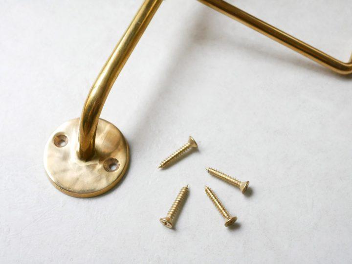 真鍮のウォールフック3