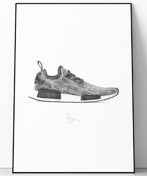 [WANT SLIP] 『Steph f Morris』adidas originals NMD R1 Primeknit / アディダス オリジナルズ エヌエムディー R1 スニーカー 絵画 アート