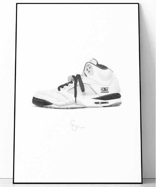[WANT SLIP] 『Steph f Morris』NIKE Tokyo Air Jordan 5 / ナイキ トーキョー エアジョーダン5スニーカー 絵画 アート
