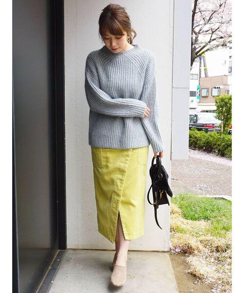 【Lee×MERCURYDUO】コーデュロイタイトスカート