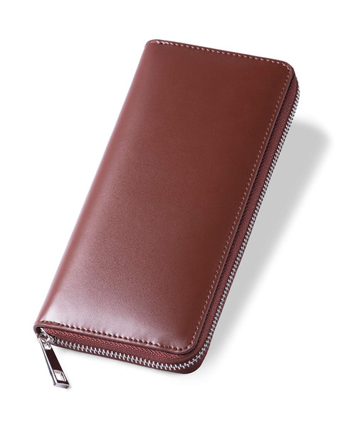 [MURA] ラウンドファスナー コードバン調/カーボン レザー 長財布