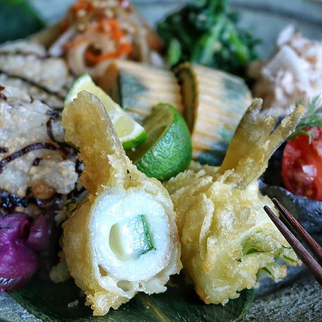 美味しい!山芋チーズ大葉巻きキスの天ぷら