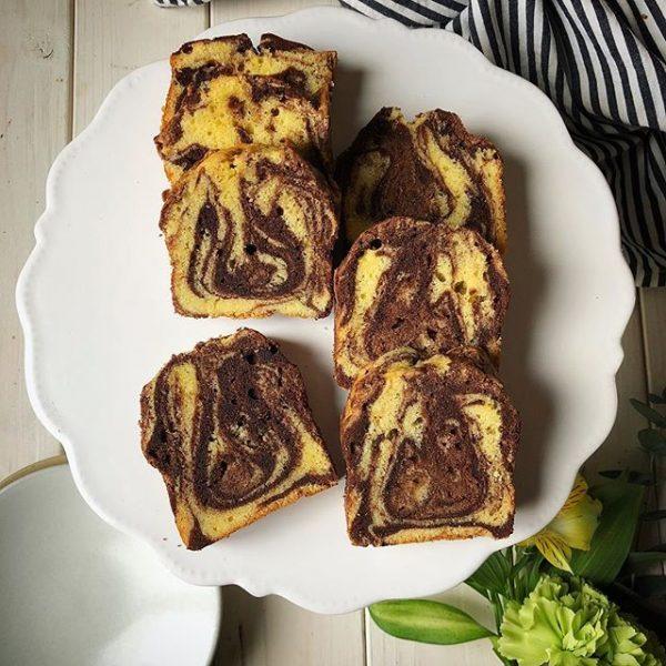 マーブル模様が美味しそう♪定番パウンドケーキ