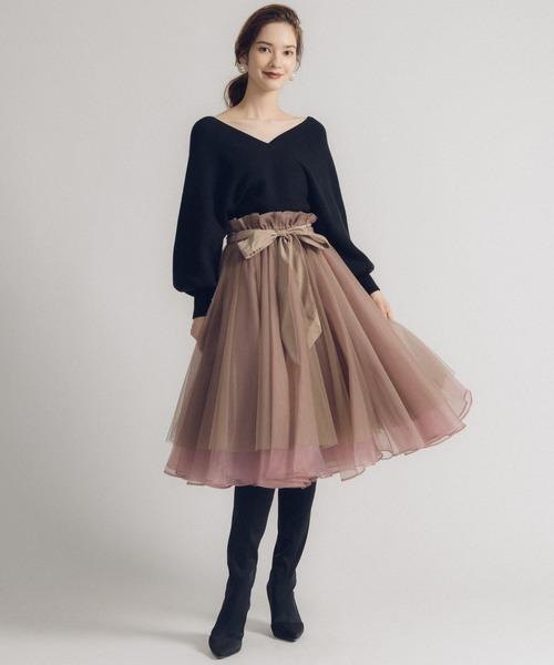 [Auntie Rosa] 【LA BELLE ETUDE】Odette MINI(ボリュームチュール×オーガンジー スカート)