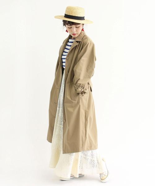 [Dot&Stripes CHILDWOMAN] △ラッセルレースパッチワーク マーメイドスカート