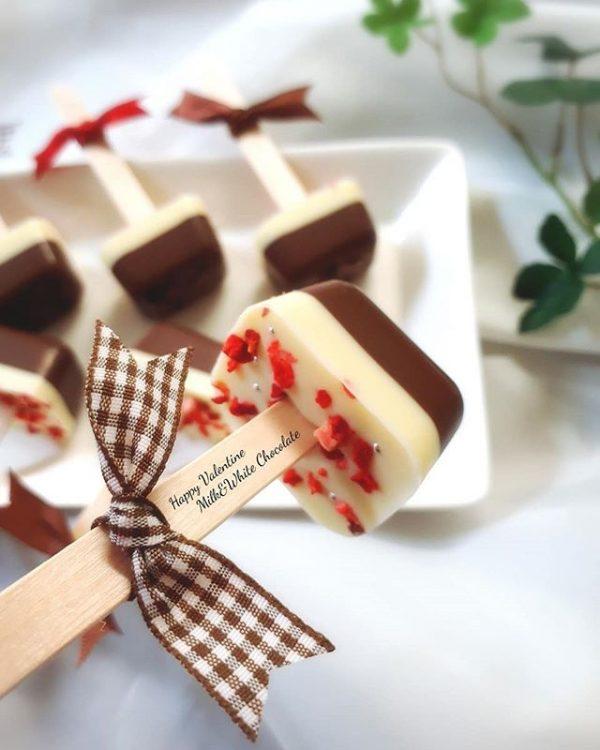 簡単でかわいい!人気の竹棒チョコ