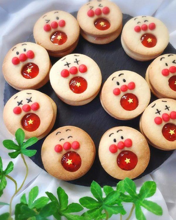 可愛い焼き菓子♪アンパンマンクッキー