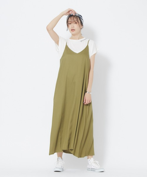 レディースTシャツ×キャミワンピース
