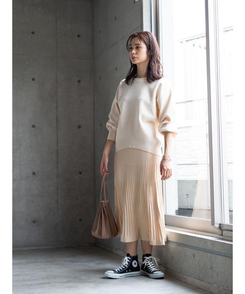 [koe] ニットプリーツスカート