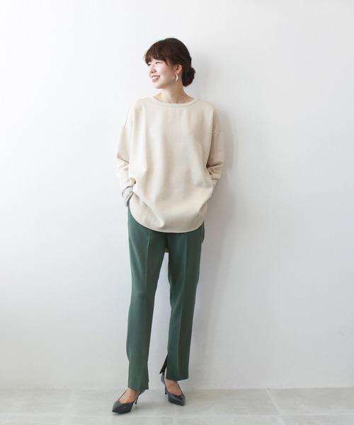 [DRESSLAVE] B7 / inner slit tapered pants(サイドスリット細身パンツ)5