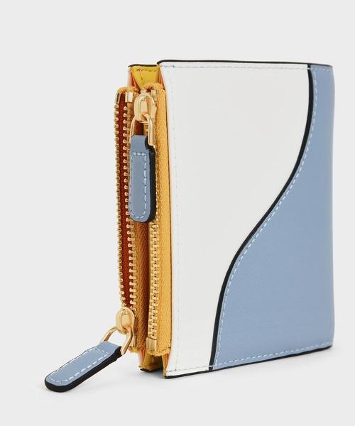 [CHARLES & KEITH] ツートーン トップジップミニウォレット / Two-Tone Top Zip Mini Wallet
