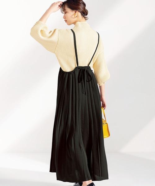 プリーツジャンパースカート