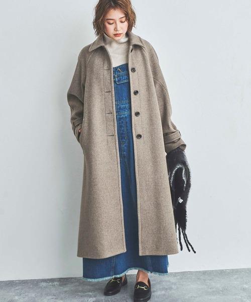 【Sシリーズ対応】◆ジャージメルトンステンカラーコート