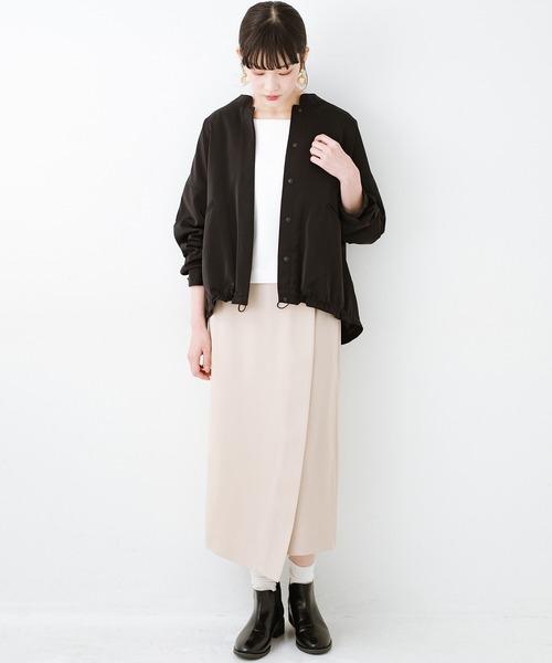 出典:zozo.jp [haco!] いざというとき困らないための 大人のフォーマル裏地付きジャケット・スカート2点セット by que made me2