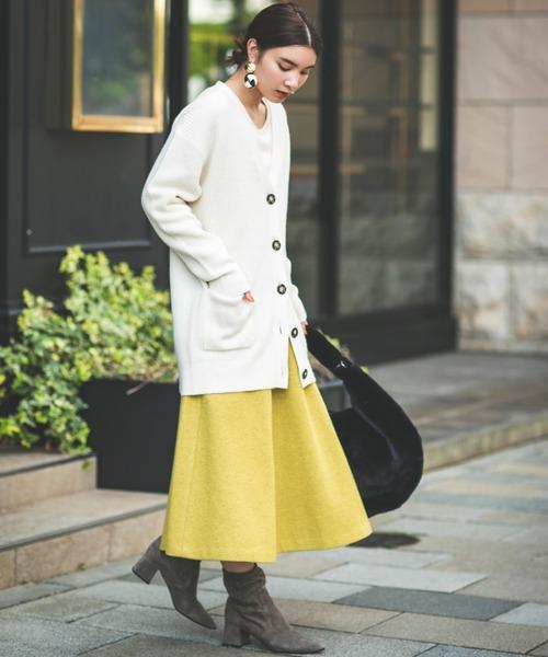 【MICA & DEAL】ウールフレアースカート