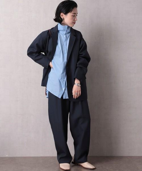 ▽【WEB限定】ビッグシルエット スタプレセットアップ (シングルジャケット/パンツ)