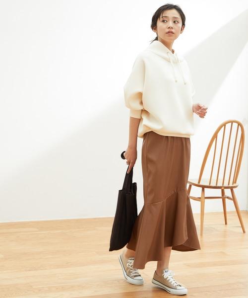 [ViS] 【田中みな実さん着用】 エコレザーマーメイドスカート