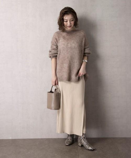 FREAK'S STORE] 【WEB限定】ラップニットスカート(巻きスカート