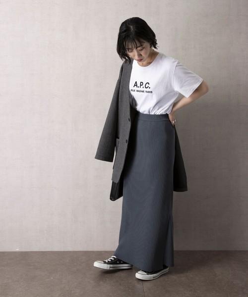[FREAK'S STORE] 【WEB限定】ラップニットスカート(巻きスカート)