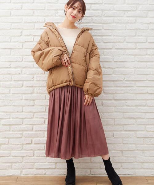 [INGNI] シャイニーサテン×チュールリバーシブル/スカート