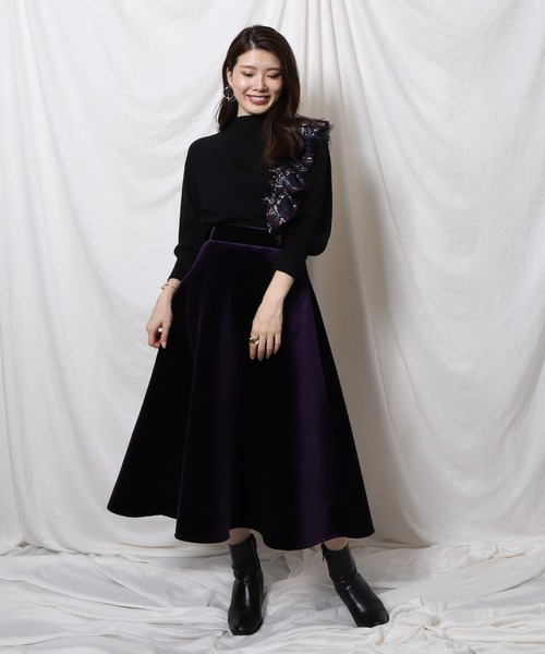 [Re.Verofonna] ベロアボンディングスカート