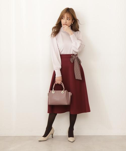 PROPORTION BODY DRESSING チェックスカーフ付フレアスカート