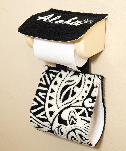 【Kahiko】ハワイアンさがら刺繍トイレットペーパーホルダー