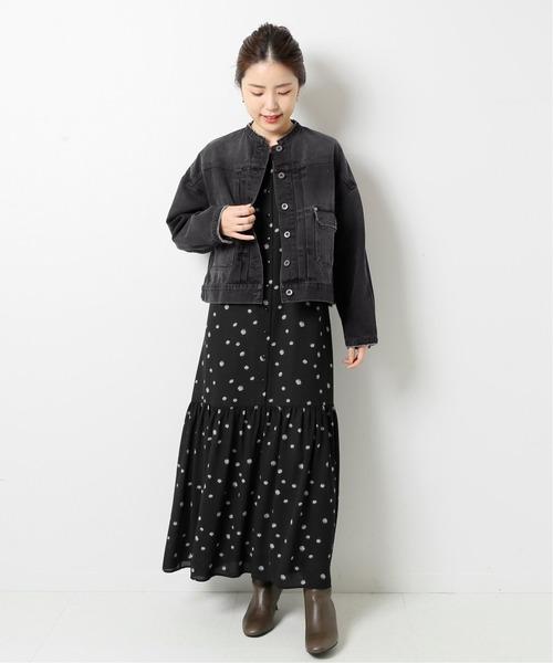 Spick & Span 【5 1/2】2ND-LINE CROP DENIM ジャケット2◆