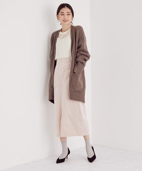 ROPE'] 【SS/S/M/Lサイズあり】コーデュロイストレッチタイトスカート