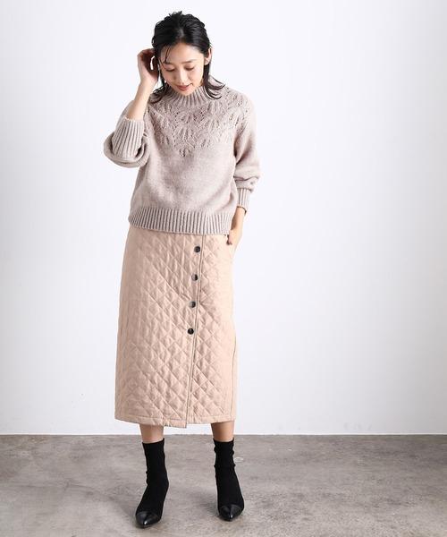 [ViS] 【安西こずえ×ViS】キルト前釦スカート