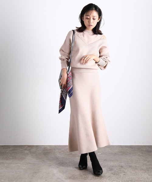 [ViS] 【セットアップ対応】マーメイドニットスカート