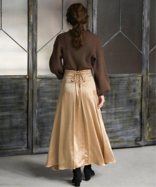 バックレースアップマーメイドスカート