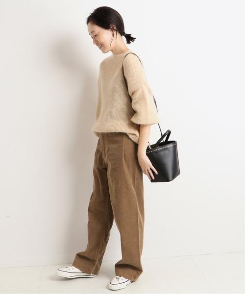 LE DENIM バギーパンツ【洗濯機洗い可能】◆