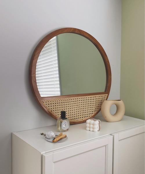 [chuclla] 【SANSeLF】rattan decorative wall mirror sanh4