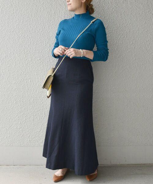 [SHIPS for women] SHIPS any: エコウールセミフレアスカート