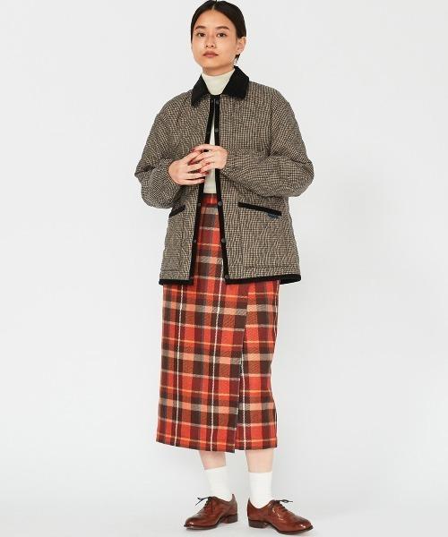 [BRITISH MADE] 【LAVENHAM/ラベンハム】エラスチックカフジャケット(キルティング キルト チェック 千鳥格子)