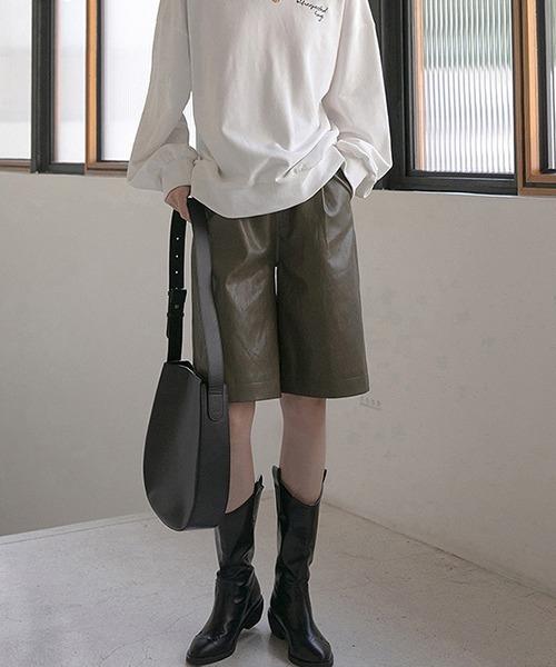 【chuclla】【2020/AW】Leather half pants chw1374