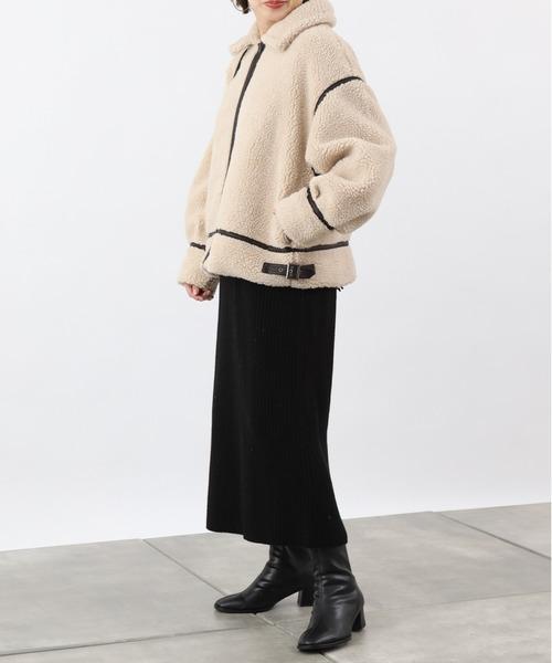 [COLONY 2139] 【WEB限定】 パイピングステンカラーボアジャケット