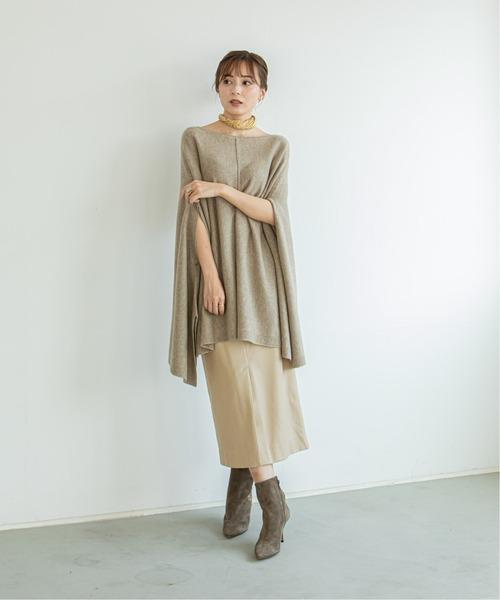 [Spick & Span] 《WEB限定》【Asami Nakamura×NOBLE】フェイクレザーロングタイトスカート◆8