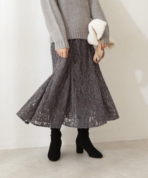 <E>モールレースマーメイドスカート
