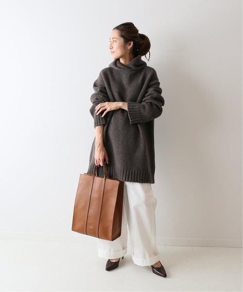 【ATON】SILTE MOULINE OVERSIZED HOODIE◆