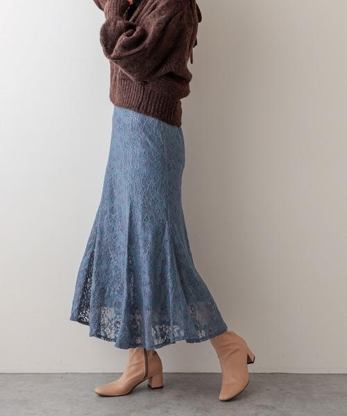 お花ベロアレースマーメイドスカート Mサイズ