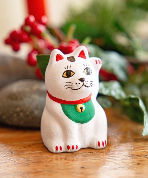 [チャイハネ] 【カヤ】民芸陶器みくじ 招き猫