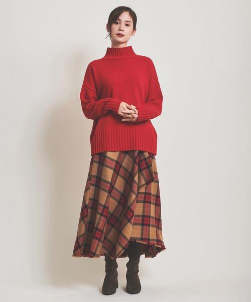 The Virgnia ボタニーチェックフレアスカート