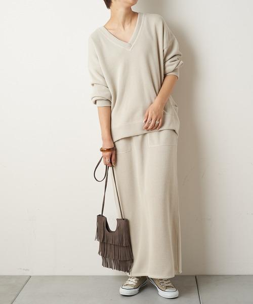 [CIAOPANIC TYPY] 【セットアップ】Iラインイージースウェットスカート