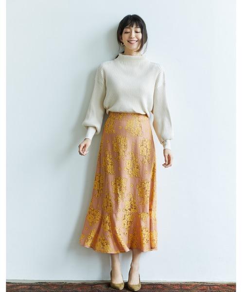 [tocco closet] 配色レースマーメイドスカート