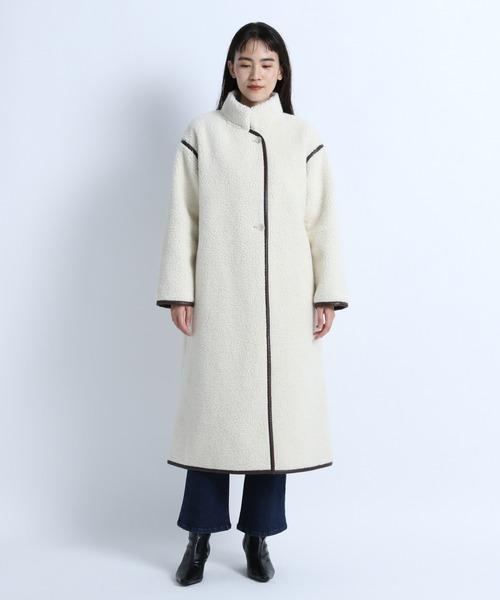 【eL】Wool Boa LongCoat/917330