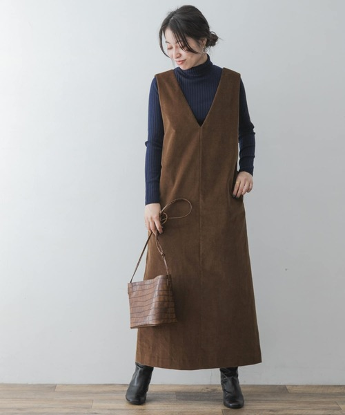 [URBAN RESEARCH ROSSO WOMEN] F by ROSSO コーデュロイジャンパースカート
